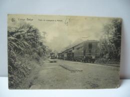 AFRIQUE CONGO BELGE TRAIN DE VOYAGEURS A MATADI CPA - Congo Belge - Autres