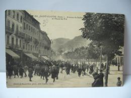 SAINT CLAUDE 39 JURA FRANCHE CONTE AVENUE DE BELFORT ET PLACE DU PRE CPA 1919 - Saint Claude