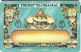 Trump Taj Mahal Casino Atlantic City NJ - Slot Card - BLANK - Casino Cards