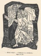 Kleingrafiek Postkaart Tobiolo E L'Angelo - Remo Wolf (1912-2009) - Ex-Libris