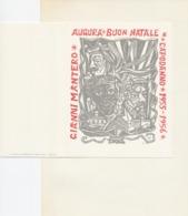 Nieuwjaarskaart Gianni Mantero Augura Buon Natale E Capodanno 1955-1956 - Remo Wolf (1912-2009) - Stiche & Gravuren