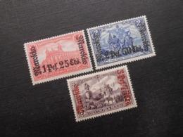 D.R.Mi 55 Ll Bb/ 56 L A/ 57 Ll Aa*MLH - Deutsche Auslandpostämter ( MAROKKO ) 1911 - Mi 23,50 € - Kantoren In Marokko