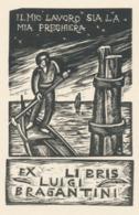 Ex Libris Luigi Bragantini - Remo Wolf (1912-2009) - Exlibris