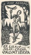 Ex Libris Julio-Cesar Salvatierra - Remo Wolf (1912-2009) - Exlibris