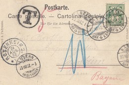 Schweiz: 1902: Ansichtskarte Basel Nach Luzern/Rosenheim - Schweiz