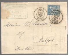23927 - FILATURE  LIN - Marcophilie (Lettres)