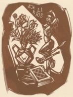 Ex Libris (Julio Cesar Salvatierra) - Remo Wolf (1912-2009) Houtsnede - Exlibris