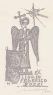 Ex Libris Federico Sozzi - Remo Wolf (1912-2009) Gesigneerd - Exlibris