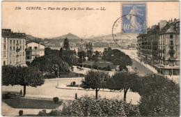 3YB 417 CPA - GENEVE - PLACE DES ALPES ET LE MONT BLANC - GE Genève