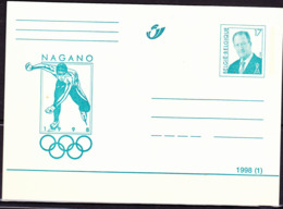 Belgien Belgium Belgique - Postkarte Olympiade Nagano (MiNr: P522) 1998 - Ungebraucht - Entiers Postaux