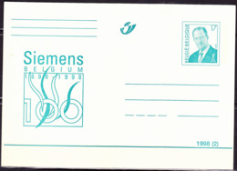 Belgien Belgium Belgique - Postkarte Siemens (MiNr: P523) 1998 - Ungebraucht - Cartes Postales [1951-..]