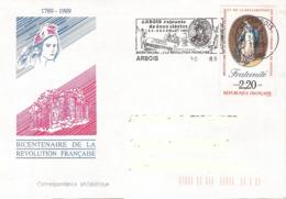 France, Enveloppe, Arbois, L'armée Du Rhin, La Marseillaise - Franz. Revolution
