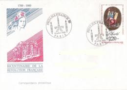France, Enveloppe, Cachet Philexfrance 8 Juillet 1989, Thème Sports, Timbre Liberté - Franz. Revolution