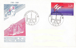 France, Enveloppe, Cachet Philexfrance 9 Juillet 1989, Thème Philatélie, Timbre Folon - Franz. Revolution
