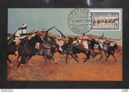 MAROC - Carte MAXIMUM 1952 - TETUAN - MARRUECOS  - Corriendo La Pólvora - Marocco Spagnolo