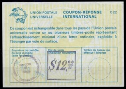 COLOMBIA / COLOMBIE La22B $ 12,00  International Reply Coupon Reponse IAS IRC Antwortschein o 18.04.75 - Kolumbien