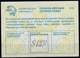 COLOMBIA / COLOMBIE La22B $ 12,00  International Reply Coupon Reponse IAS IRC Antwortschein o MEDELLIN W/o Date - Kolumbien