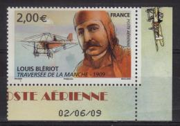 PA 72a Louis Blériot - Traversée De La Manche Coin Daté Du 02/06/09 (2009) Neuf** - 1960-.... Mint/hinged