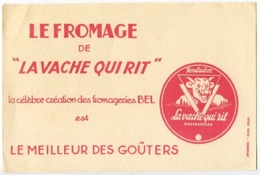 Buvard 21 X 13.5  Fromage LA VACHE QUI RIT Fromageries BEL  Dessin De La Vache D'après Benjamin Rabier Illustrateur - Zuivel