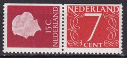 1964 Combinatie 15 + 7 Ct Rechts Ongetand Versneden Uit PB 1 NVPH C 8 Postfris - Carnets Et Roulettes