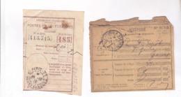 1 RECU  PTT MANDAT  EN 1919!  Et Un Recepisse D Un Oblet - Francia