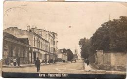 Carte Photo : Estonie , Narva , Vestervalli Tänav , Taxée ( Timbre Taxe 5 , 10 Et 30 Centimes ) - Estonia