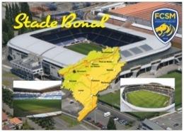 Stade De Football - Stade Bonal  - SOCHAUX - 3 Vues + Carte Géo - Cpm - Vierge - - Soccer