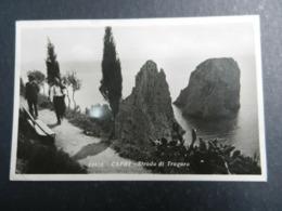 19968) CAPRI STRADA DI TRAGARA VIAGGIATA 1937 - Napoli (Naples)