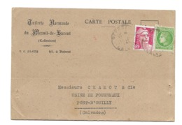 DOCUMENT Commercial CARTE POSTALE 1947..TUILERIE Normande Du MESNIL De BAVENT ( Calvados 14) - France