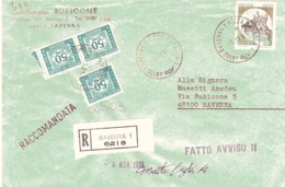RAVENNA 1 PIAZZA BARACCA - 1981-90: Poststempel