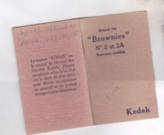 MANUEL DES BROWNIES NO 2 Et 2A, KODAK - Appareils Photo