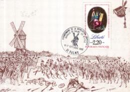 CARTE MAXIMUM BICENTENAIRE DE LA REVOLUTION FRANCAISE - 51 VALMY - 1980-89
