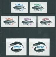 Tonga 1977 Whale Conservation Self Adhesive Set 13 MNH - Tonga (1970-...)