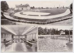 Neugersdorf Kreis Löbau Stadion Kegelhalle Volksbad Stade Stadium Bowling Piscine Sportfest Briefmarke DDR Vietnam 1974 - Stades
