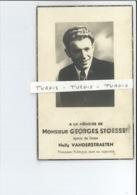 GEORGES STOESSER EPOUX NELLY VANDERSTRAETEN ° RENAIX ( RONSE ) 1910 + GUERRE PRISONNIER POLITIQUE CAMP DORA 1944 - Images Religieuses