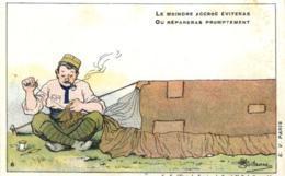 Humoristique - Illustrateur - Guillaume - Tente, Camping - Le Moindre Accroc Eviteras - D 0099 - Guillaume