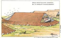 Humoristique - Illustrateur - Guillaume - Tente, Camping - Sous Moustiquaire Dormiras..... - D 0100 - Guillaume