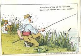 Humoristique - Illustrateur - Guillaume - Auprès De L'Eau Ne Te Tiendras Soit Pour Pêcher..... - D 0097 - Guillaume