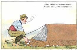Humoristique - Illustrateur - Guillaume - Tente, Camping - Avec Amour Tu L'entretiendras............ - D 0098 - Guillaume