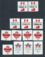 Tonga 1978 Commonwealth Games Self Adhesive Set 13 MNH - Tonga (1970-...)