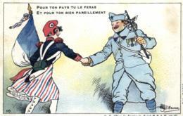 Militaria - Homoristique - Illustrateur, Guillaume - Drapeau, Marianne - Doldat - D 0086 - Guillaume