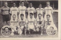 Equipe De STRASBOURG Saison 1946-47 - Voetbal