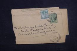 TRINITÉ ET TOBAGO - Entier Postal + Complément De Port Of Spain Pour Bruxelles En 1922 - L 45315 - Trindad & Tobago (...-1961)