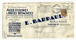 Niort , Deux Sèvres , Ceres N° 681 Seul Sur Facture Pliée Du 28 11 1946 Oblitéré Niort R P - Poststempel (Briefe)