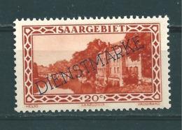 Saar MiNr. D 24 *  (r14) - Dienstmarken