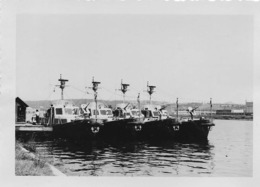 FLOTILLE BELGE DU RHIN A LIEGE (Années 50) Photos Originales - Guerre