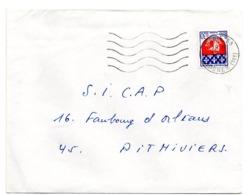 PARIS 58 / R. ORDENER (18e) 1968 ? =  FLAMME SECAP Muette '5 Lignes Ondulées' - Postmark Collection (Covers)