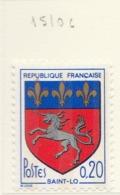 PIA - FRAN -1972 : Stemma Della Città Di Saint-Lo  - (Yv 1510c) - Francia
