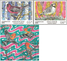 Aerbaijan Aserbaidschan MNH 2019 Stamp Bird Vogel  Set 1465-1466 1467 Bl.227 M - 2019