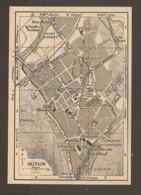 CARTE PLAN 1952 - AUTUN GARE PLM CATHÉDRALE SAINT LAZARE - Topographische Kaarten